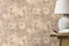 467352 cikkszámú tapéta.Retro,virágmintás,bézs-drapp,szürke,lemosható,vlies tapéta