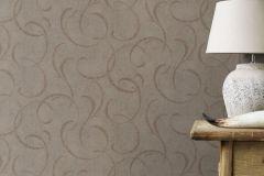 467659 cikkszámú tapéta.Különleges felületű,különleges motívumos,retro,barna,szürke,lemosható,vlies tapéta