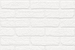 150100 cikkszámú tapéta.Csíkos,kőhatású-kőmintás,fehér,szürke,vlies tapéta