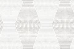 342703 cikkszámú tapéta.Csíkos,geometriai mintás,különleges motívumos,fehér,szürke,vlies tapéta