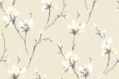 AK1201 cikkszámú tapéta.Különleges felületű,virágmintás,bézs-drapp,fehér,lila,sárga,lemosható,vlies tapéta