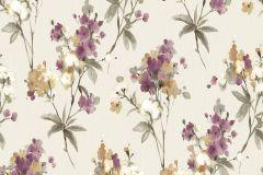 AK1402 cikkszámú tapéta.Különleges felületű,természeti mintás,virágmintás,barna,bézs-drapp,fehér,lila,narancs-terrakotta,lemosható,vlies tapéta
