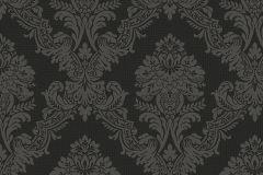 MA3603 cikkszámú tapéta.Barokk-klasszikus,különleges felületű,metál-fényes,ezüst,fekete,gyengén mosható,vlies tapéta