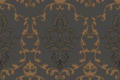 MA3804 cikkszámú tapéta.Barokk-klasszikus,különleges felületű,barna,narancs-terrakotta,gyengén mosható,vlies tapéta