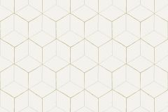 VA1201 cikkszámú tapéta.3d hatású,geometriai mintás,különleges felületű,bézs-drapp,fehér,gyöngyház,gyengén mosható,vlies tapéta