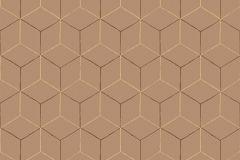 VA1203 cikkszámú tapéta.3d hatású,geometriai mintás,különleges felületű,narancs-terrakotta,gyengén mosható,vlies tapéta
