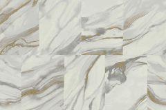 VA4701 cikkszámú tapéta.Konyha-fürdőszobai,kőhatású-kőmintás,különleges felületű,különleges motívumos,arany,fehér,szürke,gyengén mosható,vlies tapéta