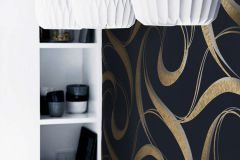 WA2304 cikkszámú tapéta.Absztrakt,különleges felületű,arany,kék,szürke,gyengén mosható,vlies tapéta