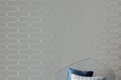 WA2504 cikkszámú tapéta.Absztrakt,geometriai mintás,különleges felületű,ezüst,szürke,gyengén mosható,vlies tapéta