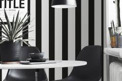 WA2603 cikkszámú tapéta.Csíkos,különleges felületű,fehér,fekete,gyengén mosható,illesztés mentes,vlies tapéta