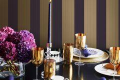 WA2606 cikkszámú tapéta.Csíkos,különleges felületű,arany,lila,gyengén mosható,illesztés mentes,vlies tapéta