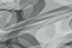 ZA1102 cikkszámú tapéta.Absztrakt,különleges felületű,ezüst,fehér,fekete,gyengén mosható,vlies tapéta