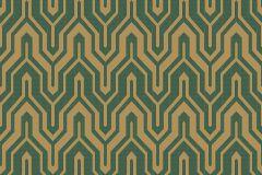 ZA1204 cikkszámú tapéta.Absztrakt,különleges felületű,arany,zöld,gyengén mosható,vlies tapéta