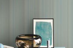 ZA1710 cikkszámú tapéta.Csíkos,különleges felületű,türkiz,zöld,gyengén mosható,vlies tapéta