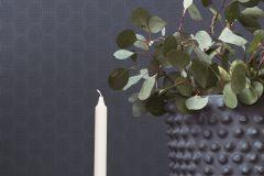 ZA1903 cikkszámú tapéta.Absztrakt,különleges felületű,fekete,kék,gyengén mosható,vlies tapéta