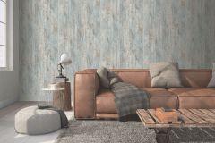 L68301 cikkszámú tapéta.Fa hatású-fa mintás,különleges felületű,barna,kék,lemosható,illesztés mentes,vlies tapéta