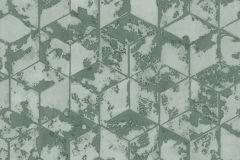 L75404 cikkszámú tapéta.3d hatású,absztrakt,geometriai mintás,különleges felületű,zöld,gyengén mosható,vlies tapéta