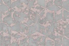 L75405 cikkszámú tapéta.3d hatású,absztrakt,geometriai mintás,különleges felületű,pink-rózsaszín,szürke,gyengén mosható,vlies tapéta
