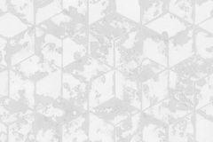 L75409 cikkszámú tapéta.3d hatású,absztrakt,geometriai mintás,különleges felületű,fehér,szürke,gyengén mosható,vlies tapéta