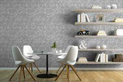 L75419 cikkszámú tapéta.3d hatású,absztrakt,geometriai mintás,különleges felületű,szürke,gyengén mosható,vlies tapéta