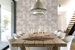 L77607 cikkszámú tapéta.Kőhatású-kőmintás,különleges felületű,barna,bézs-drapp,narancs-terrakotta,gyengén mosható,vlies tapéta