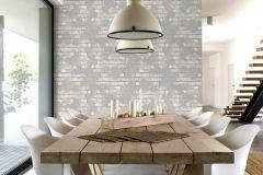 L77609 cikkszámú tapéta.Kőhatású-kőmintás,különleges felületű,bézs-drapp,szürke,gyengén mosható,vlies tapéta
