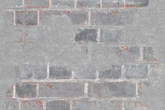 L77619 cikkszámú tapéta.Kőhatású-kőmintás,különleges felületű,narancs-terrakotta,szürke,gyengén mosható,vlies tapéta