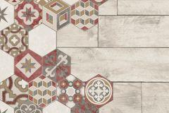 L77710 cikkszámú tapéta.Fa hatású-fa mintás,konyha-fürdőszobai,különleges felületű,marokkói ,barna,bézs-drapp,piros-bordó,szürke,vajszín,zöld,lemosható,vlies tapéta