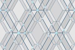 L77801 cikkszámú tapéta.Absztrakt,különleges felületű,kék,szürke,lemosható,vlies tapéta