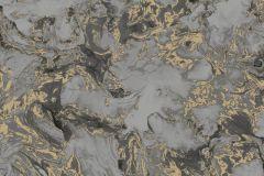 L79809 cikkszámú tapéta.Kőhatású-kőmintás,különleges felületű,metál-fényes,arany,szürke,gyengén mosható,vlies tapéta