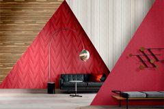 Z41202 cikkszámú tapéta.3d hatású,különleges felületű,piros-bordó,súrolható,vlies tapéta