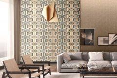 Z44507 cikkszámú tapéta.Absztrakt,csillámos,különleges felületű,arany,barna,bézs-drapp,kék,súrolható,vlies tapéta