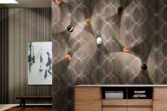 Z44513 cikkszámú tapéta.Absztrakt,különleges felületű,arany,barna,ezüst,piros-bordó,súrolható,vlies tapéta