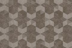 Z44523 cikkszámú tapéta.3d hatású,csillámos,geometriai mintás,különleges felületű,barna,ezüst,súrolható,vlies tapéta