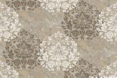 Z44537 cikkszámú tapéta.Barokk-klasszikus,különleges felületű,barna,fehér,szürke,súrolható,vlies tapéta