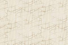 Z44551 cikkszámú tapéta.Absztrakt,különleges felületű,metál-fényes,arany,vajszín,súrolható,vlies tapéta