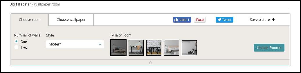 szoba - tapéta tervező program